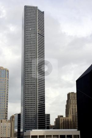 Houston Texas Skyline stock photo, A building in the Houston Texas Skyline. by Brandon Seidel
