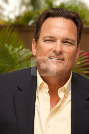 Handsome Male Portrait stock photo, Handsome Male Portrait with Sport Coat in the Outdoors. by Andy Dean