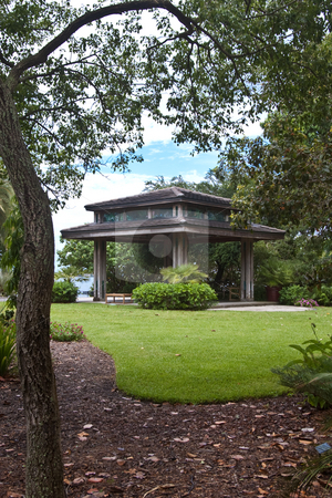 Gazebo in Park stock photo, Gazebo in park, Sarasota, FL by Steve Carroll