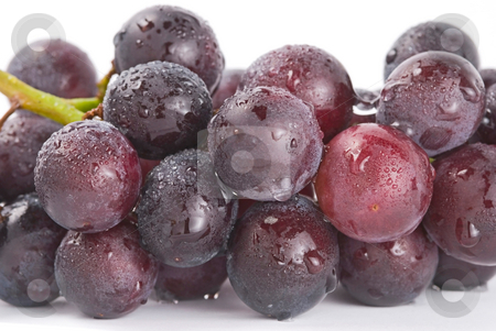 Grapes with drops, fresh fruit. stock photo, Fresh grapes with drops, delicious fruit. by Lawren