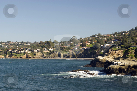La jolla stock photo, Ocean side suburb of la jolla, san diego, california by Stephen Gibson