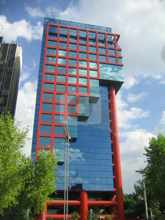 Mexico City Office Building stock photo, Example of Mexican City Architecture by Michael Santero