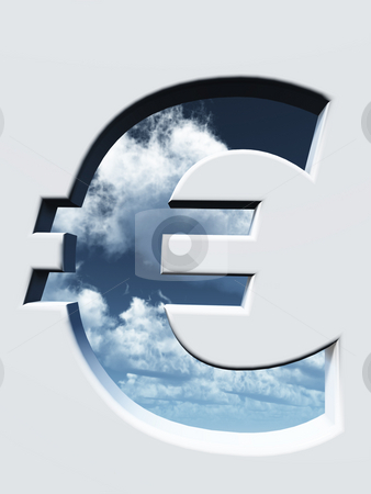 Euro stock photo, Euro sign hole - 3d illustration by J?