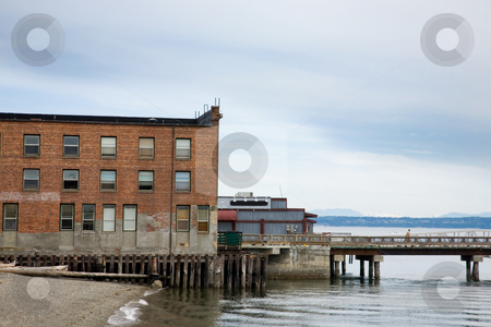 Port Townsend  stock photo, Buildings by the water in Port Townsend Washington. by Travis Manley