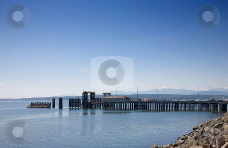 Port Townsend Ferry stock photo, Cars in line for the ferry in Port Townsend Washington. by Travis Manley