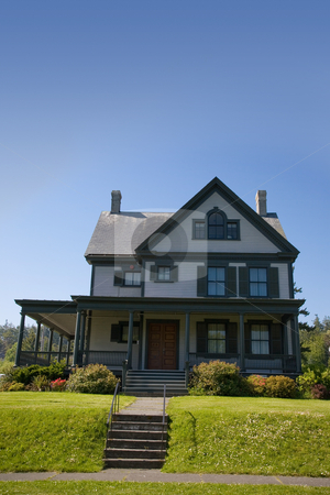 Summer Rental stock photo, A summer rental house at Fort Worden State Park in Port Townsend Washington. by Travis Manley