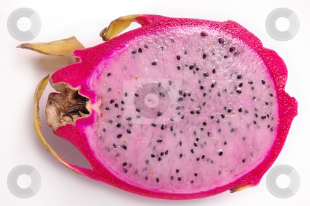 Pitaya  stock photo, Light speckeld flesh and bright pink skin of the Dragon fruit by Martin Darley