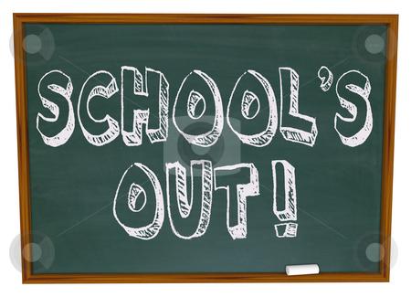 School's Out - Written on Chalkboard stock photo, The words School's Out written on a chalkboard by Chris Lamphear