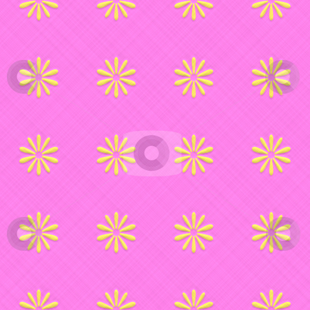 Seamless Floral Pattern stock photo, A floral pattern that tiles seamlessly in any direction. by Todd Arena