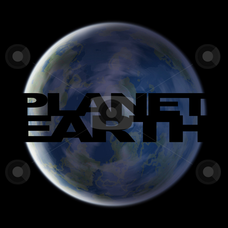 Planet Earth stock photo, A 3d planet earth illustrations over a black background. by Todd Arena