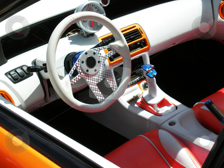 Salon inside sport car stock photo, Salon inside sport car close up by Desislava Dimitrova