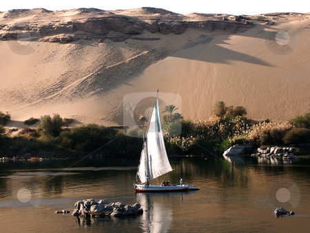 Sailing on nile stock photo, Sailing on nile by Thomas K?