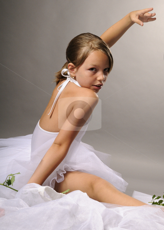 Elegant ballerina stock photo, Elegant ballerina smiling by Dragos Iliescu