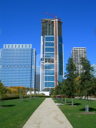 Chicago famous skyscrapers stock photo, Famous Chicago city skyscrapers and streetscapes by Daniela Mangiuca