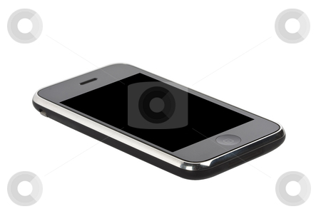 Smart Phone stock photo, Smart phone isolated on white background by Chris Roselli