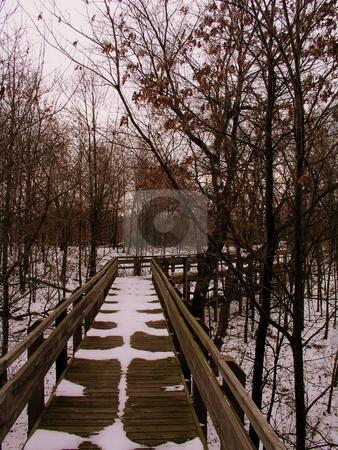 Snowy Bridge stock photo,  by Ryan Dandy