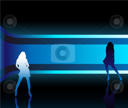 Girl Background stock vector clipart, Sexy fashion girl in beautiful and colorful catwalk by Augusto Cabral Graphiste Rennes