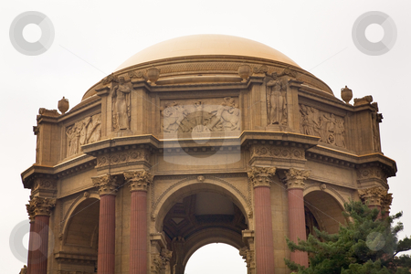 Dome Details Palace of Fine Arts Museum San Francisco California stock photo, Dome Details Palace of Fine Arts Museum San Francisco California by William Perry