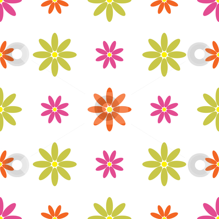 Seamless Retro Floral Background stock vector clipart, Vector illustration of a seamless retro floral background by Inge Schepers