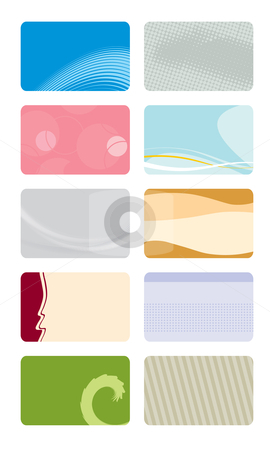 Business cards templates stock vector clipart, Collection of business card templates by Rositsa Maslarska