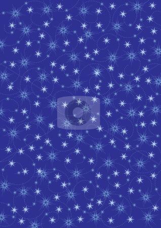 Christmas background stock vector clipart, Illustrated christmas background with stars by Rositsa Maslarska