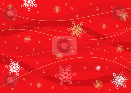 Christmas retro background stock vector clipart, Christmas retro background with snowflakes. Vector illustration. by Rositsa Maslarska