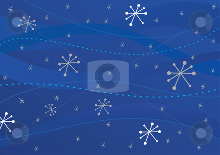 Winter background stock vector clipart, Winter retro background - vector illustration. by Rositsa Maslarska