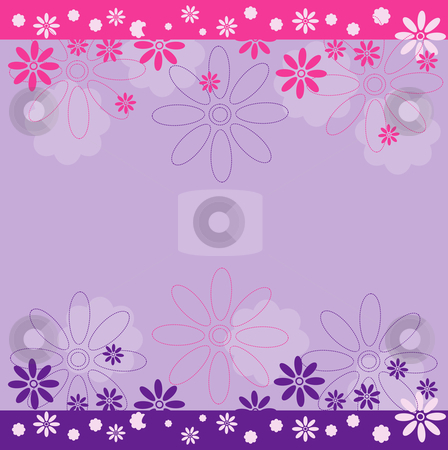 Floral background stock vector clipart, Cute floral background. Vector illustration. by Rositsa Maslarska