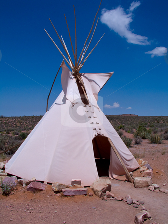 Tipi stock photo,  by Ryan Dandy