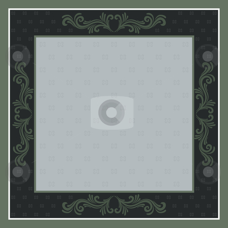 Frame stock vector clipart, Vector illustration - frame background with ornaments by Rositsa Maslarska
