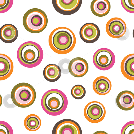 Seamless Retro Circles Background stock vector clipart, Vector illustration of a seamless retro circles pattern by Inge Schepers