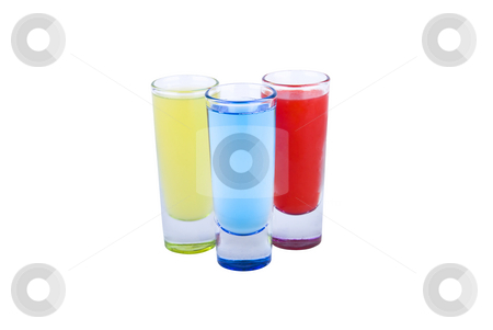 Color Shots stock photo, A collection of shot's in different colors on white background by Roman Kalashnikov
