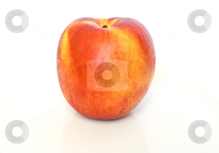 Nettarina stock photo, Fresh ripe nectarine isolated on white background by ANTONIO SCARPI