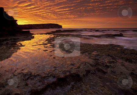 Explosive Skies stock photo, Explosive light as the sun rises over Pennington Bay on Kangaroo Island, Australia by Mike Dawson
