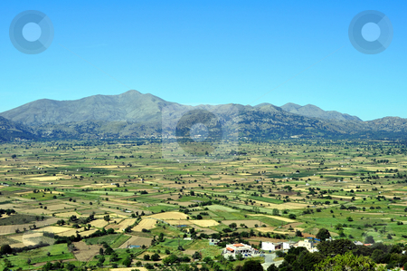 View of the Lassithi Plateau in Crete, Greece stock photo, Travel photography: View of the Lassithi Plateau in Crete, Greece by Fernando Barozza