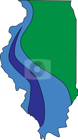 Illinois stock vector clipart, Illustration of the State of Illinois. by W. Paul Thomas