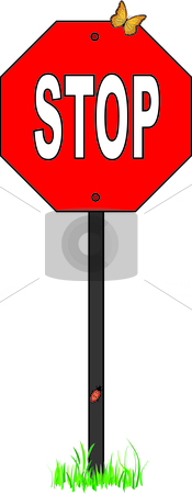 Stop Sign stock vector clipart, Illustration made in Adobe Illustrator. by W. Paul Thomas