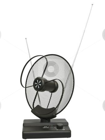 Antenna  stock photo, Single isolated domestic antenna against the white background by Sergej Razvodovskij