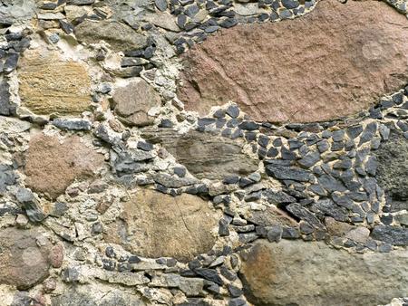 Background stock photo, Old stone walls outdoors pattern background by Sergej Razvodovskij