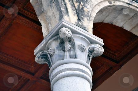 Greek column stock photo, Travel photography: Detail of greek contruction in the island of Crete by Fernando Barozza