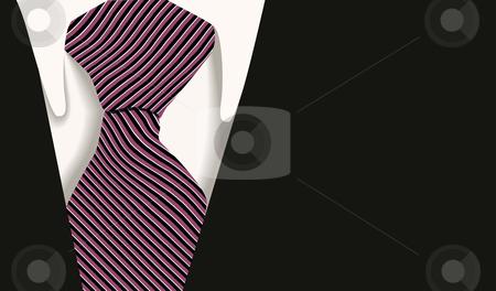 Business tie suit stock vector clipart, Smart business suit tie by William Park