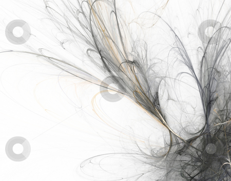 Disorder stock photo, Abstract grey on white background design - illustration by J?