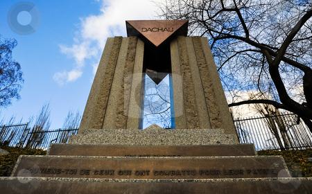 Dachau memorial  stock photo, Dachau memorial in Pere Lachaise cemetery by Jaime Pharr