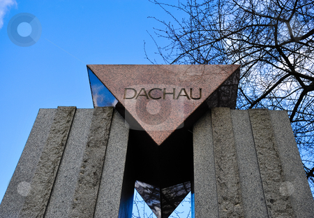 Dachau memorial  stock photo, Dachau memorial in Pere Lachaise cemetery by Jaime Pharr