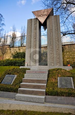 Dachau memorial  stock photo, Dachau memorial in Pere Lachaise cemetary by Jaime Pharr