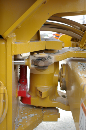 Machinery Joint stock photo, A view of a center joint in a roller. by Tom Weatherhead
