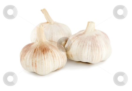 Garlic stock photo, Garlic isolated on a white background. by Vladyslav Danilin