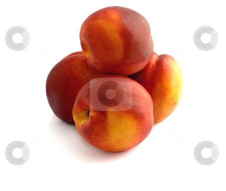 Peaches nectarine stock photo, Nectarine peaches close-up on a white background. by Vladyslav Danilin