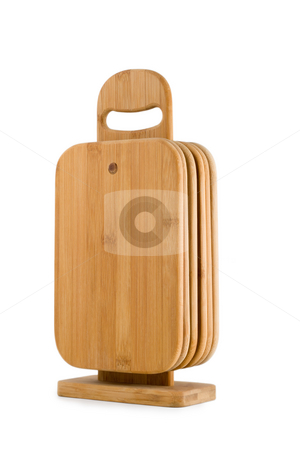 Wooden Cutting Board stock photo, Wooden Cutting Board , isolated on white background. by Vladyslav Danilin