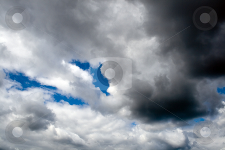 Overcast stock photo, Overcast blue white background dramatic by Vladyslav Danilin